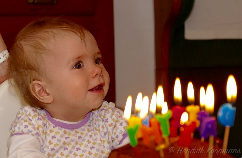 Joëlle's first birthday